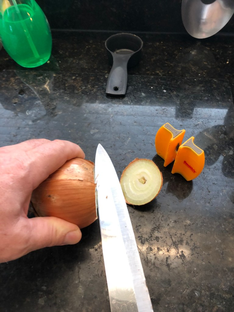 cut the top off the onion