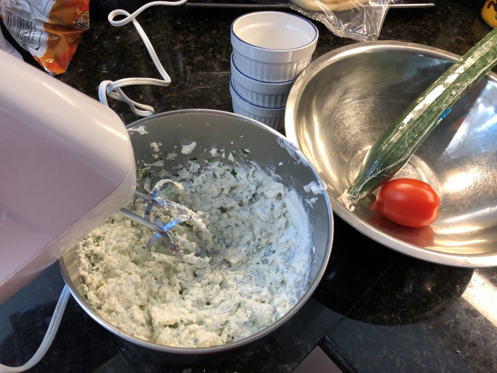 Cream everything together with a hand mixer until smooth