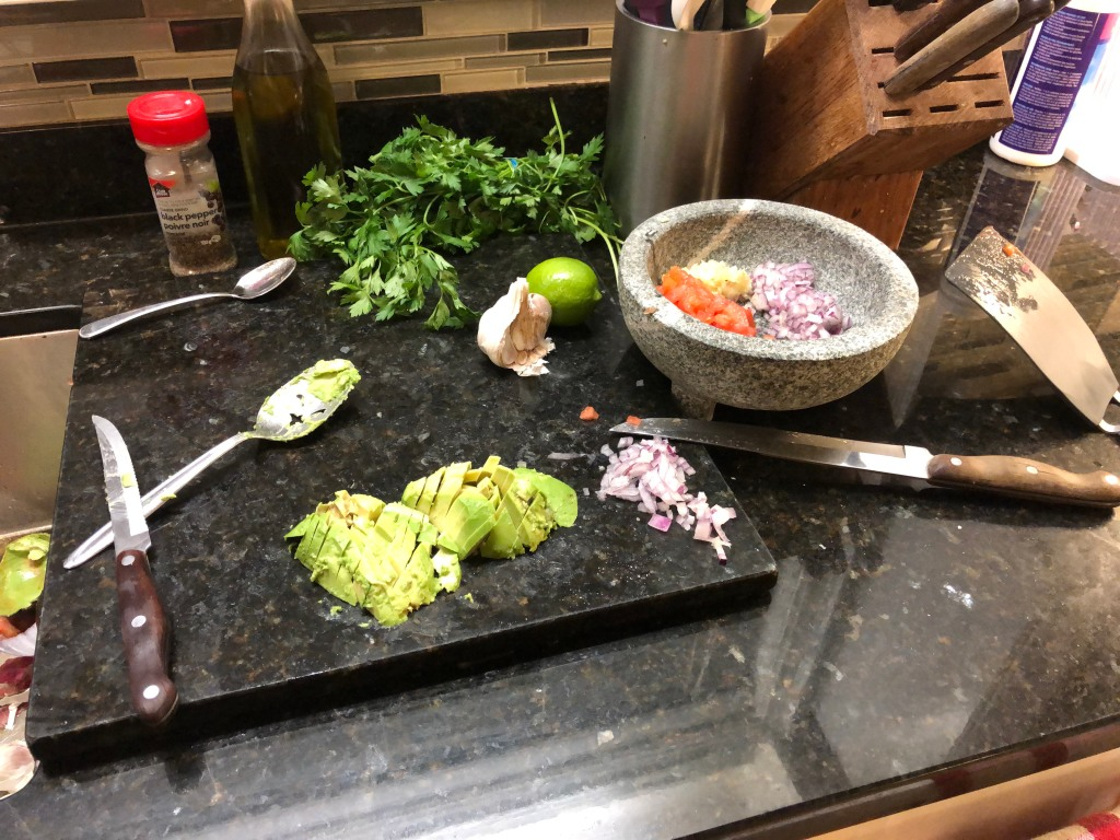 Dice the avocado
