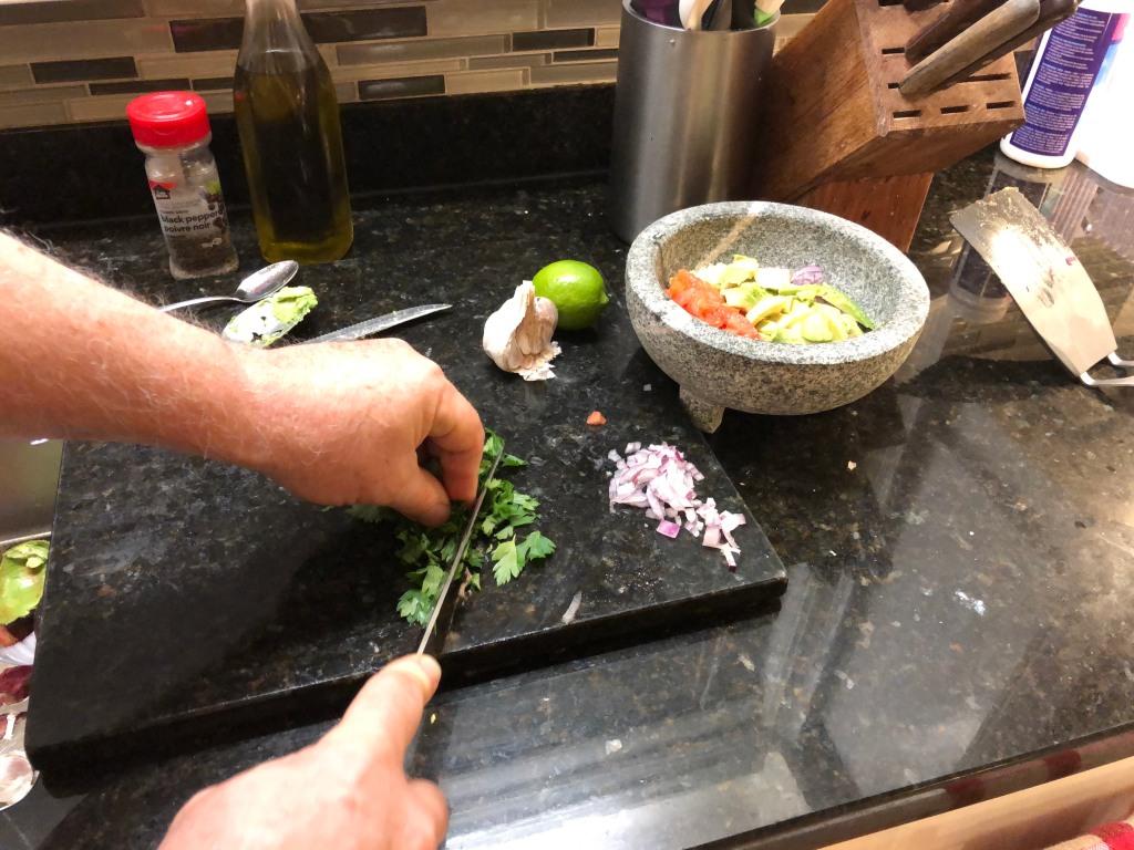Chop up some cilantro