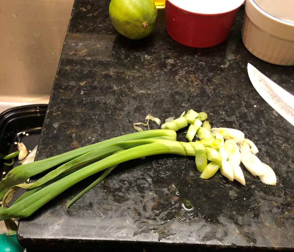 Chop up your green onions
