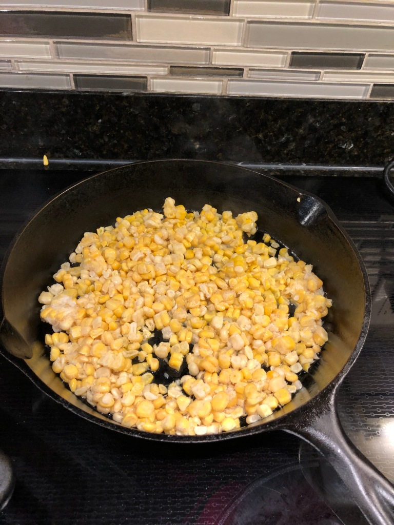Add corn and cook without stirring until corn begins to char (about 2-3 minutes)