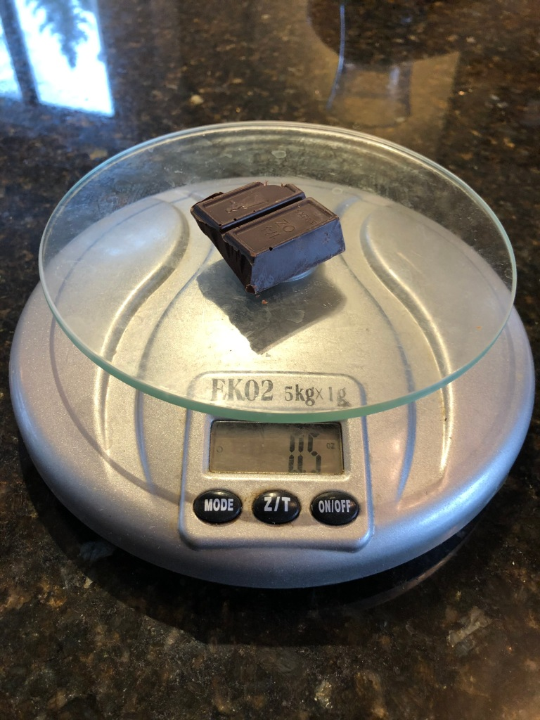 The best way to measure ingredients in the kitchen is to weigh them.