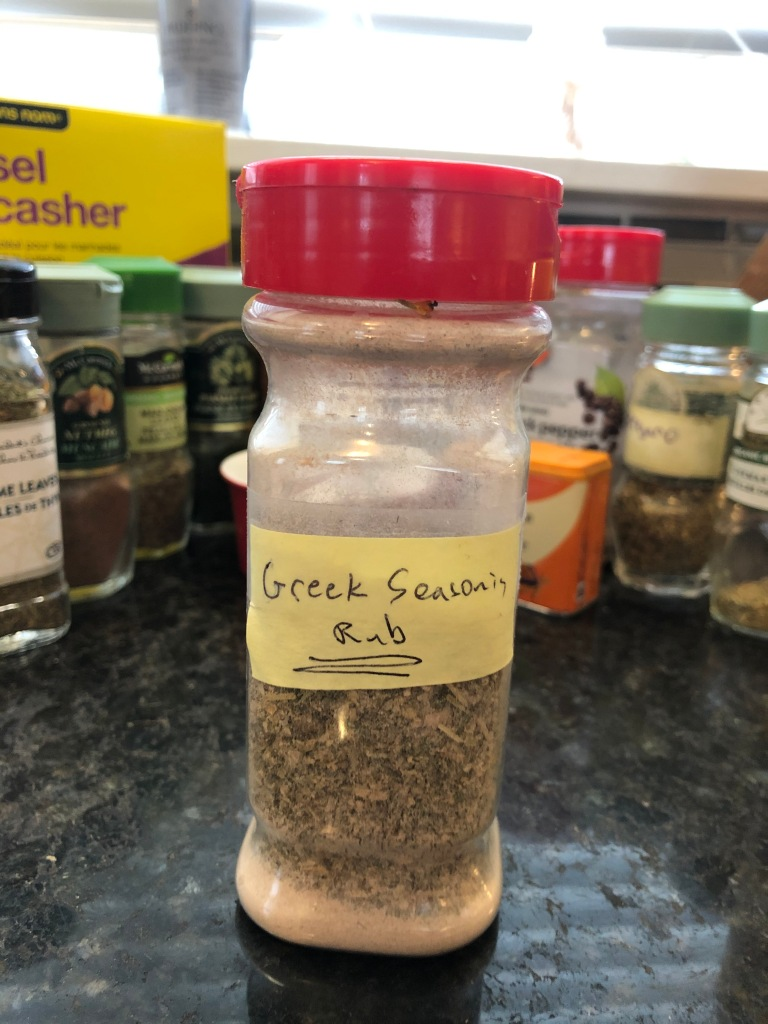 Greek seasoning... make it up in advance and have it ready to use in all sorts of dishes