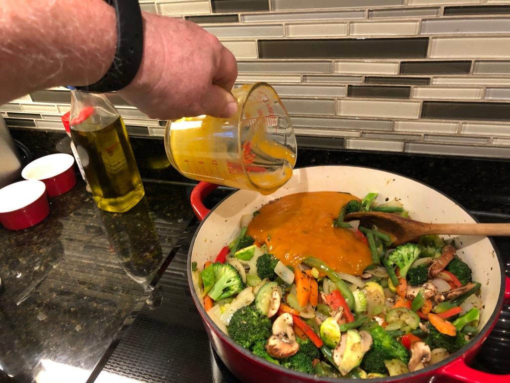 Thoroughly stir soup mix into veggies...