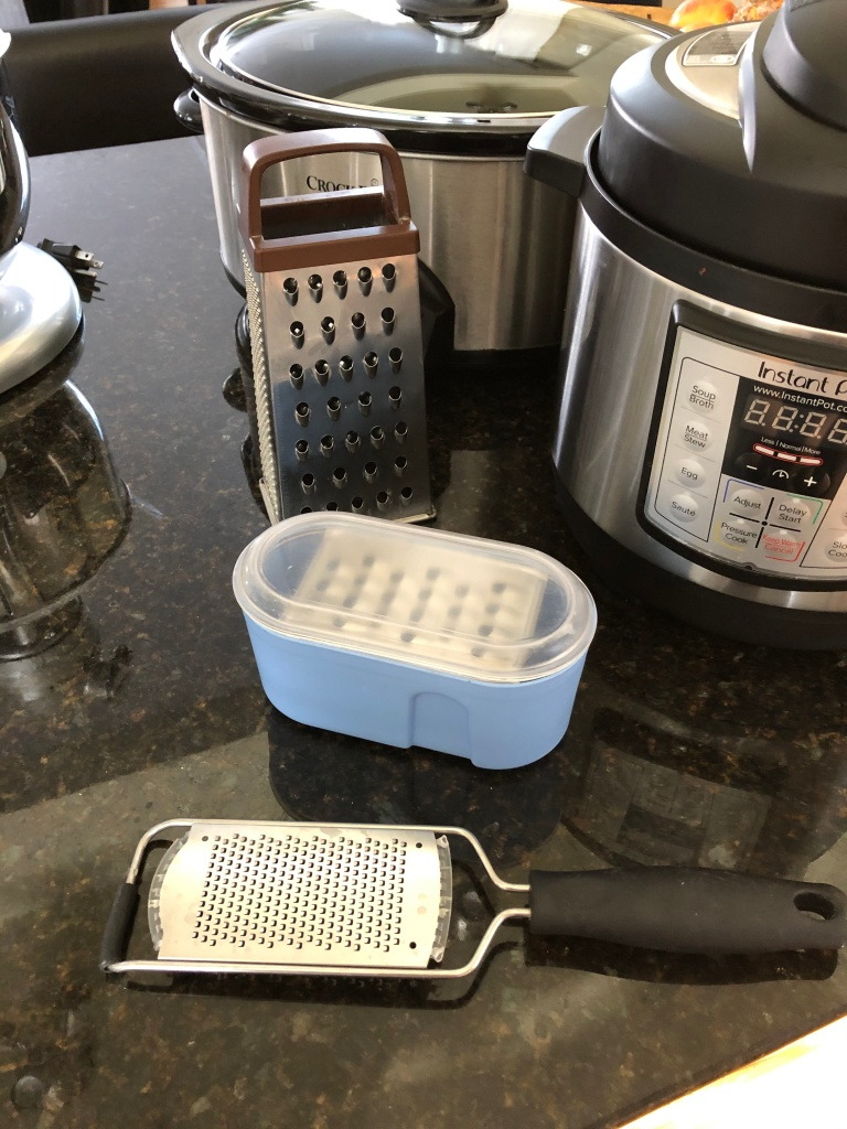 Number 6 are my graters: the Big Box, the Cheese Grater with Collector and the Micro Grate