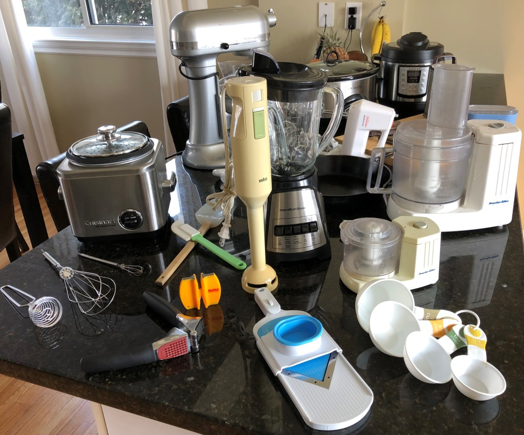 Here's a snapshot of 13 of my most important kitchen toys, oops, I mean tools