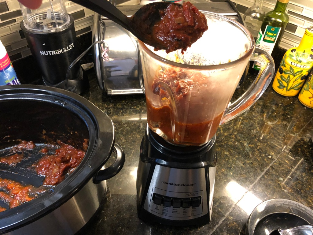 Transfer tomato mixture to a blender