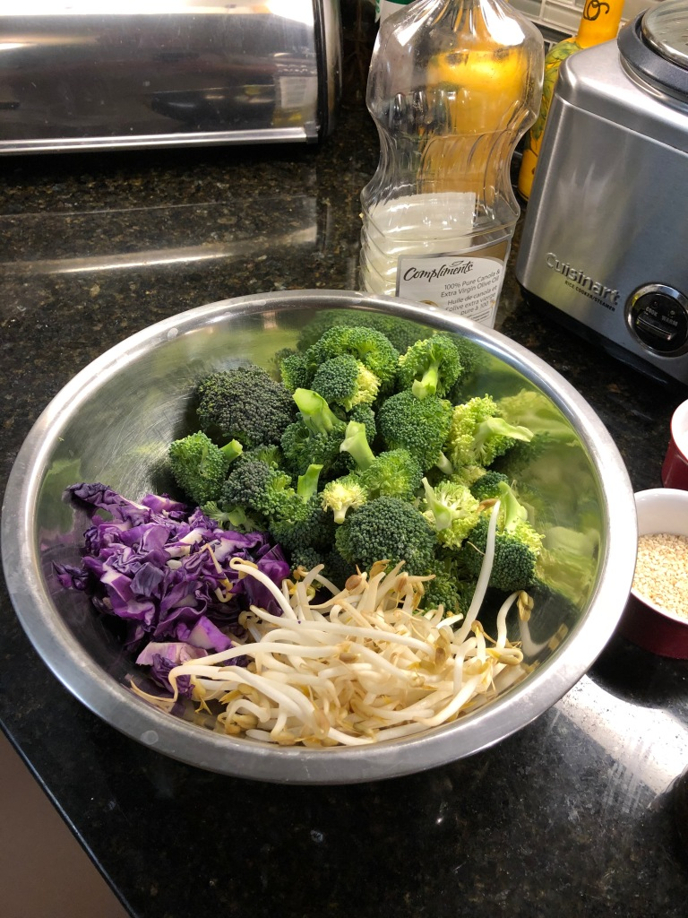 Broccoli, cabbage and sprouts, on top of a bed of brown rice pack a powerful nutritional punch and look great in the bowl at dinner time