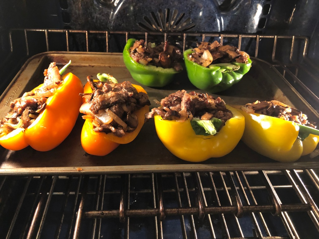 Move stuffed peppers to the oven to cook for 15 minutes