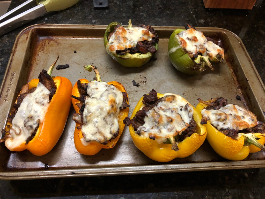 ... remove from the oven when the cheese has melted and slightly browned