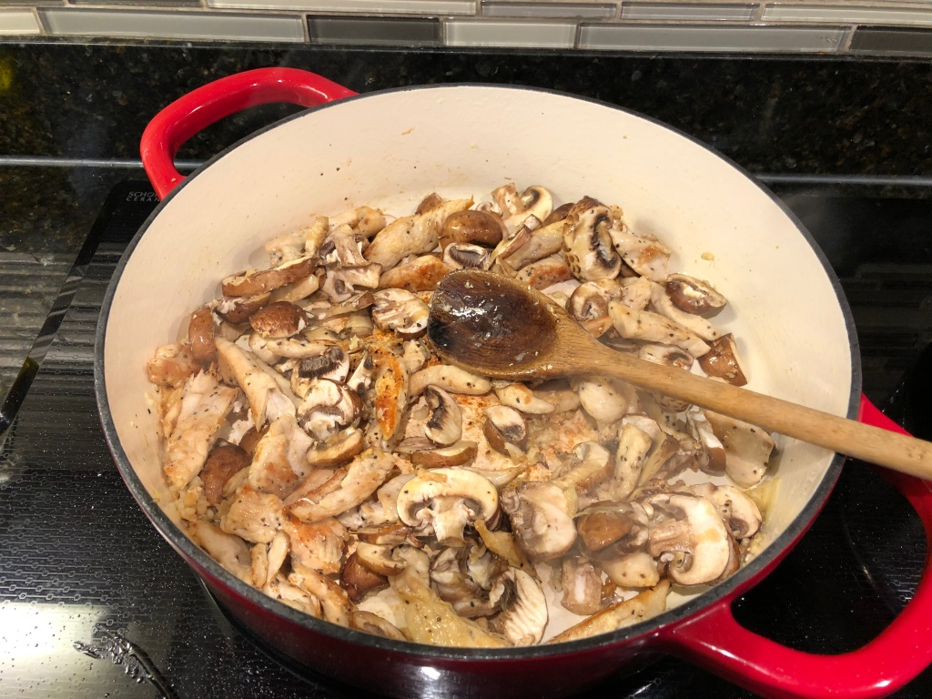 Cook for approximately 4-5 minutes until mushrooms release their juice