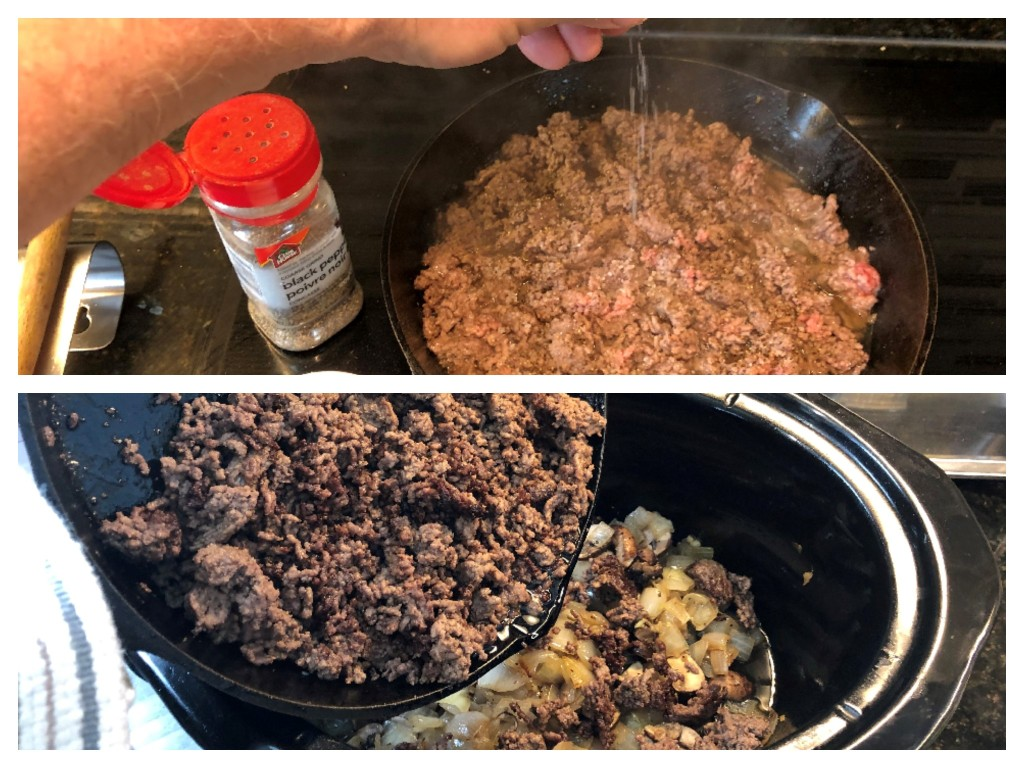 If you wish, you can toss the ground beef right into the crock without browning