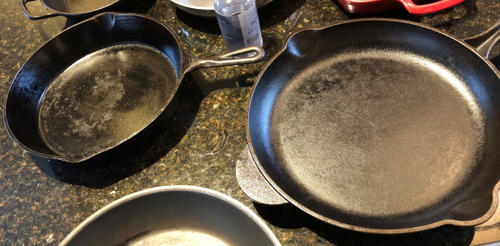Cast iron pans are good for searing or browning meats, can go under the broiler or can be used for deep frying. Food looks and smells better when cooked on cast iron.