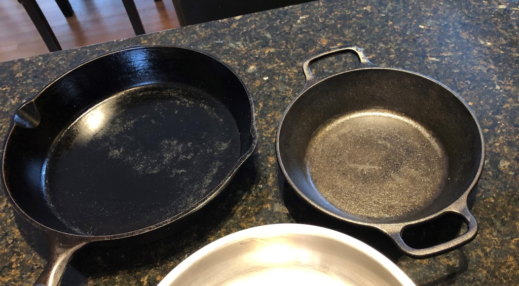 You'll use more butter or oil coking on cast iron than on non-stick surfaces.