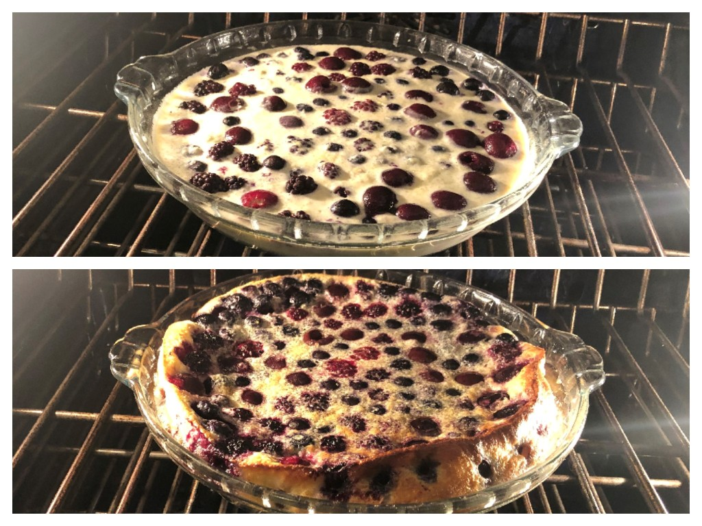 Bake for 30 to 40 minutes, until just set. If you're using frozen berries, it may take a little longer