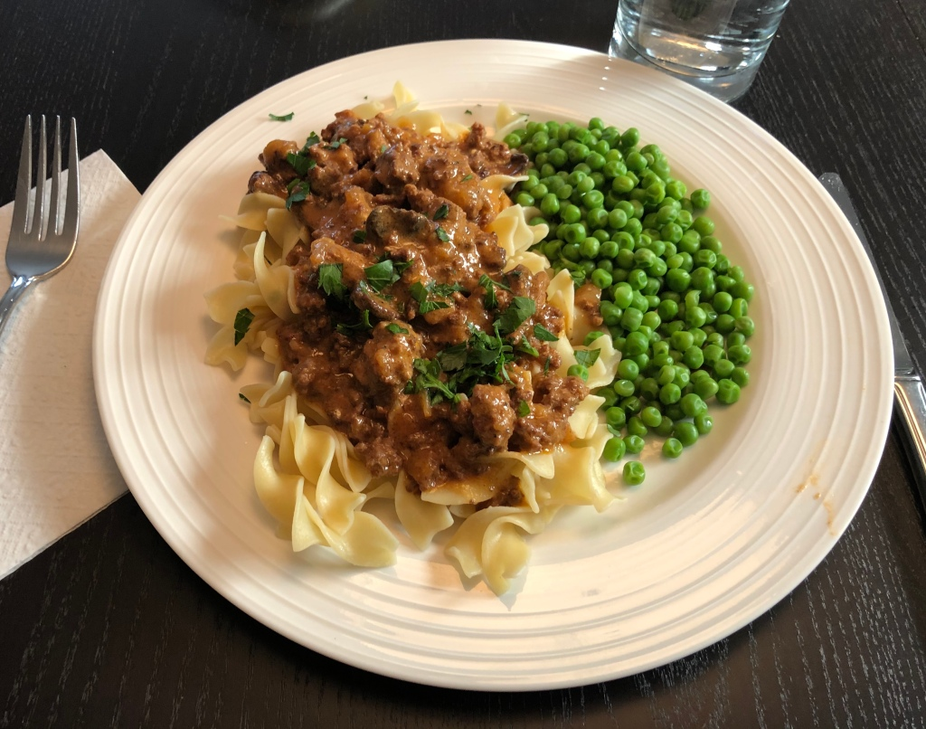 Served over broad eggs noodles Two Step Slowcooker Stroganoff will never let you down!