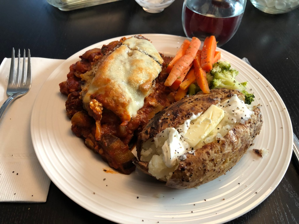 One pan Chicken Parm with veggies is a true one pan dish. But, I like to add nutritional power with steamed broccoli and carrots.