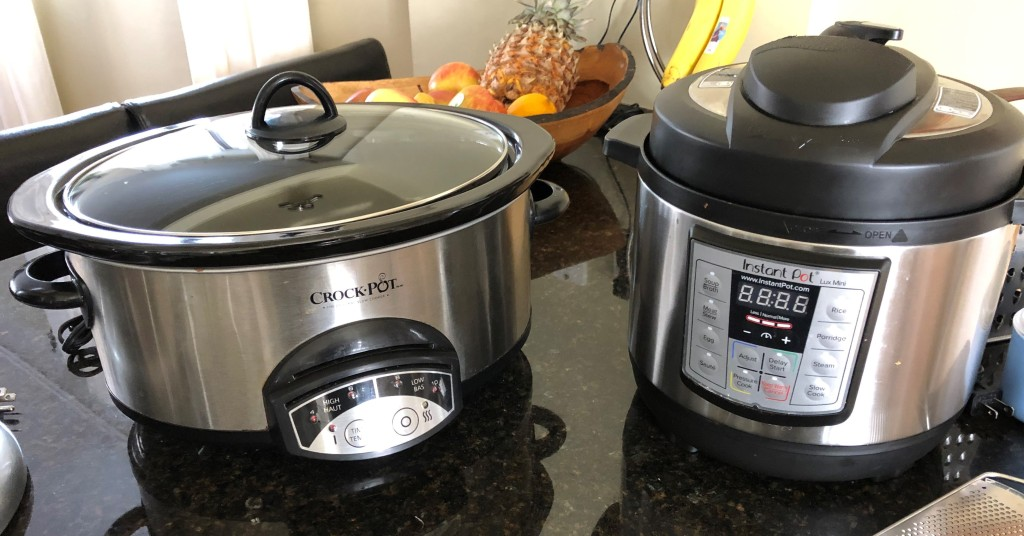 I use a 6 quart Crockpot brand slowcookert and, now that we're empty nesters, the slowcooker function on my 3 quart mini Instant Pot