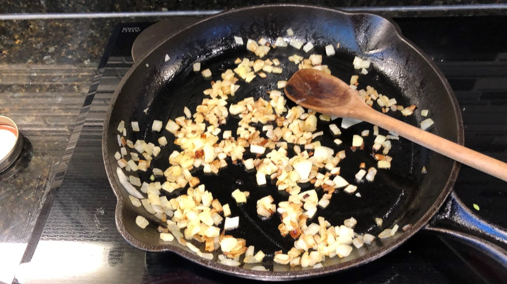 Sauté onions in oil over medium heat until golden brown, about 5 minutes.